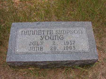 YOUNG, NANNETTE - Calhoun County, Arkansas | NANNETTE YOUNG - Arkansas Gravestone Photos