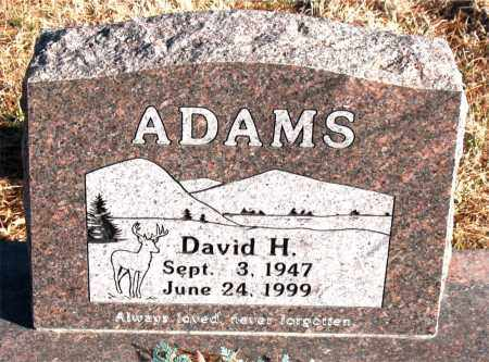 ADAMS, DAVID H. - Carroll County, Arkansas | DAVID H. ADAMS - Arkansas Gravestone Photos
