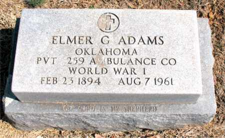 ADAMS (VETERAN WWI), ELMER G - Carroll County, Arkansas | ELMER G ADAMS (VETERAN WWI) - Arkansas Gravestone Photos