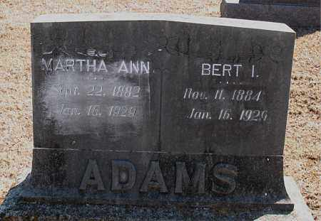 ADAMS, BERT I. - Carroll County, Arkansas | BERT I. ADAMS - Arkansas Gravestone Photos