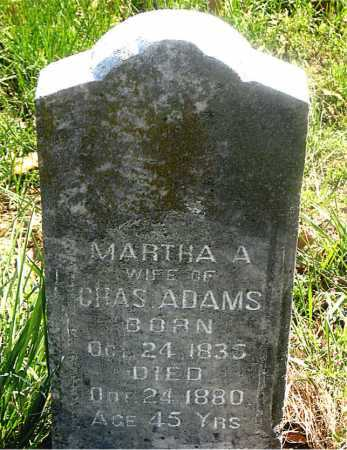 ADAMS, MARTHA  A. - Carroll County, Arkansas | MARTHA  A. ADAMS - Arkansas Gravestone Photos