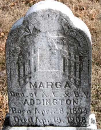 ADDINGTON, MARGA - Carroll County, Arkansas | MARGA ADDINGTON - Arkansas Gravestone Photos