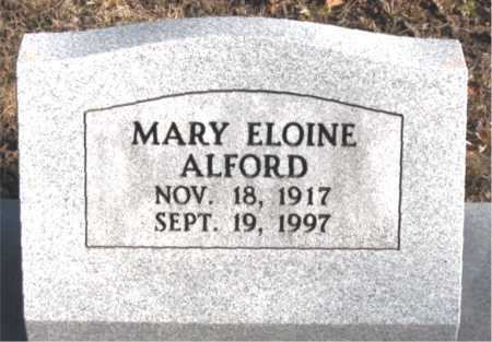 ALFORD, MARY  ELOINE - Carroll County, Arkansas | MARY  ELOINE ALFORD - Arkansas Gravestone Photos