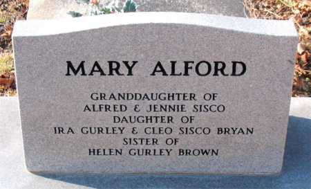 ALFORD, MARY - Carroll County, Arkansas | MARY ALFORD - Arkansas Gravestone Photos