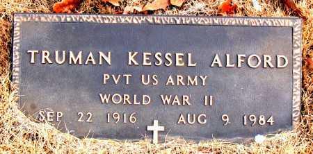 ALFORD (VETERAN WWII), TRUMAN KESSEL - Carroll County, Arkansas | TRUMAN KESSEL ALFORD (VETERAN WWII) - Arkansas Gravestone Photos