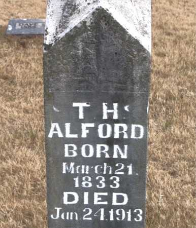 ALFORD, T.  H. - Carroll County, Arkansas | T.  H. ALFORD - Arkansas Gravestone Photos