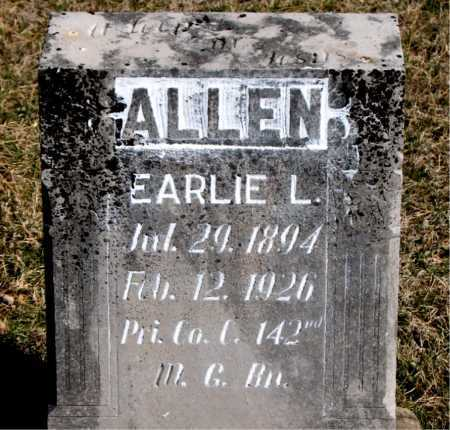ALLEN, EARLIE - Carroll County, Arkansas | EARLIE ALLEN - Arkansas Gravestone Photos