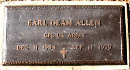 ALLEN (VETERAN), EARL DEAN - Carroll County, Arkansas | EARL DEAN ALLEN (VETERAN) - Arkansas Gravestone Photos