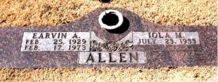ALLEN, EARVIN  A. - Carroll County, Arkansas | EARVIN  A. ALLEN - Arkansas Gravestone Photos