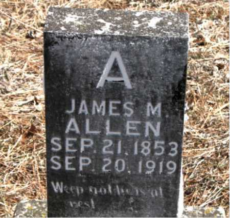 ALLEN, JAMES  M. - Carroll County, Arkansas | JAMES  M. ALLEN - Arkansas Gravestone Photos