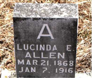 ALLEN, LUCINDA  E. - Carroll County, Arkansas | LUCINDA  E. ALLEN - Arkansas Gravestone Photos