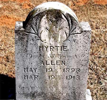 ALLEN, MYRTIE - Carroll County, Arkansas | MYRTIE ALLEN - Arkansas Gravestone Photos