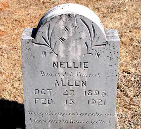 ALLEN, NELLIE - Carroll County, Arkansas | NELLIE ALLEN - Arkansas Gravestone Photos