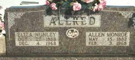 NUNLEY ALLRED, ELIZA CLARISSA - Carroll County, Arkansas | ELIZA CLARISSA NUNLEY ALLRED - Arkansas Gravestone Photos