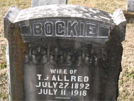 ALLRED, BOCKIE - Carroll County, Arkansas   BOCKIE ALLRED - Arkansas Gravestone Photos