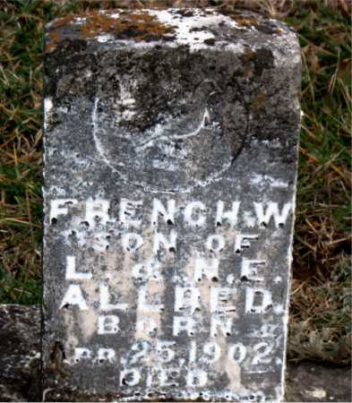 ALLRED, FRENCH  W, - Carroll County, Arkansas | FRENCH  W, ALLRED - Arkansas Gravestone Photos