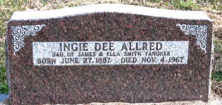 ALLRED, INGIE  DEE - Carroll County, Arkansas | INGIE  DEE ALLRED - Arkansas Gravestone Photos