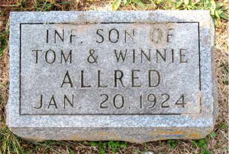 ALLRED, INFANT SON - Carroll County, Arkansas | INFANT SON ALLRED - Arkansas Gravestone Photos