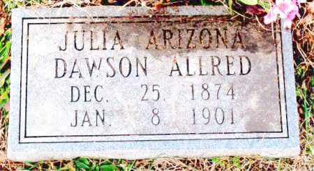 ALLRED, JULIA ARIZONA - Carroll County, Arkansas | JULIA ARIZONA ALLRED - Arkansas Gravestone Photos