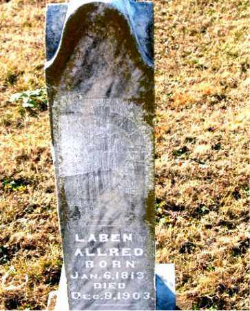 ALLRED, LABEN - Carroll County, Arkansas | LABEN ALLRED - Arkansas Gravestone Photos