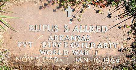 ALLRED (VETERAN WWI), RUFUS S - Carroll County, Arkansas | RUFUS S ALLRED (VETERAN WWI) - Arkansas Gravestone Photos