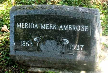 MEEK AMBROSE, MERIDA - Carroll County, Arkansas | MERIDA MEEK AMBROSE - Arkansas Gravestone Photos