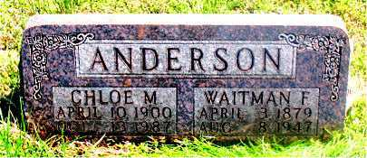 ANDERSON, CHLOE M - Carroll County, Arkansas | CHLOE M ANDERSON - Arkansas Gravestone Photos
