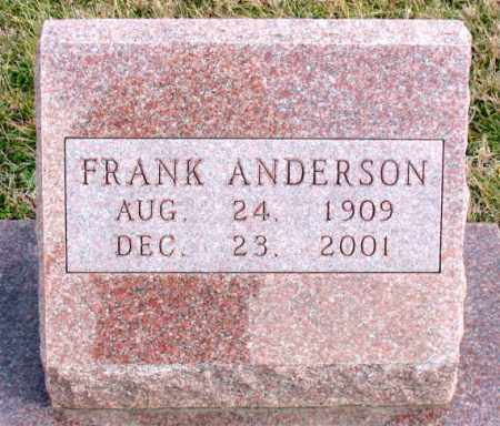 ANDERSON, FRANK - Carroll County, Arkansas | FRANK ANDERSON - Arkansas Gravestone Photos