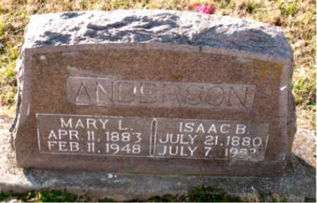 ANDERSON, ISAAC B. - Carroll County, Arkansas | ISAAC B. ANDERSON - Arkansas Gravestone Photos