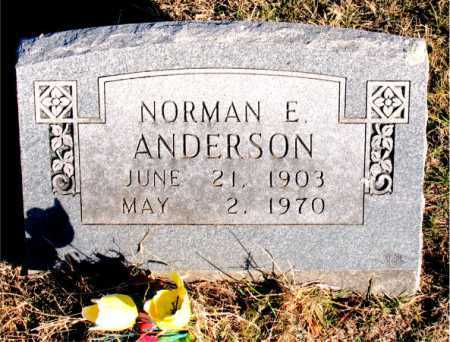 ANDERSON, NORMAN E - Carroll County, Arkansas | NORMAN E ANDERSON - Arkansas Gravestone Photos