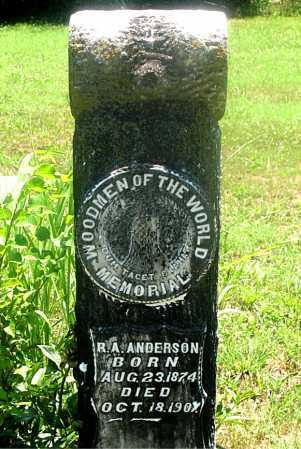ANDERSON, ROBERT A - Carroll County, Arkansas | ROBERT A ANDERSON - Arkansas Gravestone Photos
