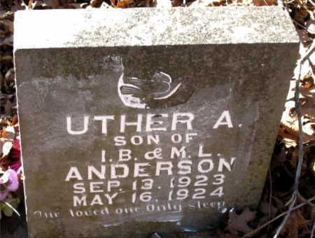 ANDERSON, UTHER A. - Carroll County, Arkansas | UTHER A. ANDERSON - Arkansas Gravestone Photos