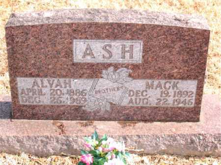 ASH, ALVAH - Carroll County, Arkansas | ALVAH ASH - Arkansas Gravestone Photos