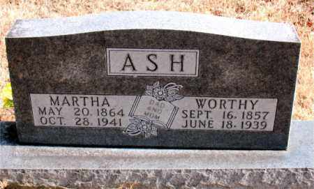 ASH, WORTHY - Carroll County, Arkansas | WORTHY ASH - Arkansas Gravestone Photos