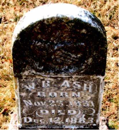 ASH (VETERAN CSA), W.B. - Carroll County, Arkansas | W.B. ASH (VETERAN CSA) - Arkansas Gravestone Photos