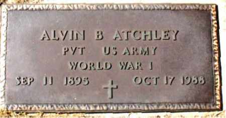 ATCHLEY (VETERAN WWI), ALVIN B - Carroll County, Arkansas | ALVIN B ATCHLEY (VETERAN WWI) - Arkansas Gravestone Photos