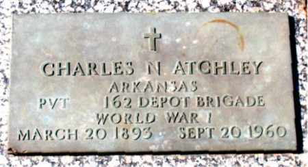 ATCHLEY (VETERAN WWI), CHARLES  N - Carroll County, Arkansas | CHARLES  N ATCHLEY (VETERAN WWI) - Arkansas Gravestone Photos