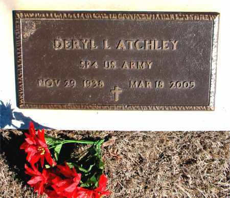 ATCHLEY (VETERAN), DERYL L - Carroll County, Arkansas | DERYL L ATCHLEY (VETERAN) - Arkansas Gravestone Photos