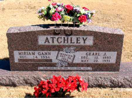 ATCHLEY, GEARL  J. - Carroll County, Arkansas | GEARL  J. ATCHLEY - Arkansas Gravestone Photos
