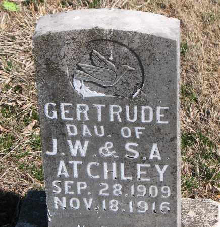 ATCHLEY, GERTRUDE - Carroll County, Arkansas | GERTRUDE ATCHLEY - Arkansas Gravestone Photos