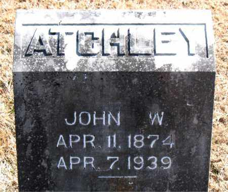ATCHLEY, JOHN W. - Carroll County, Arkansas | JOHN W. ATCHLEY - Arkansas Gravestone Photos