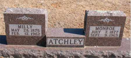 ATCHLEY, MILLY - Carroll County, Arkansas | MILLY ATCHLEY - Arkansas Gravestone Photos