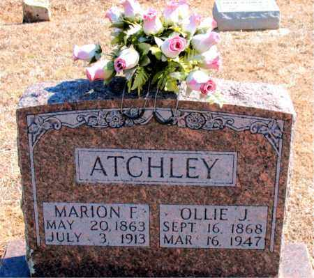ATCHLEY, MARION F. - Carroll County, Arkansas | MARION F. ATCHLEY - Arkansas Gravestone Photos