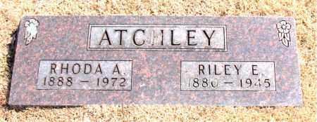 ATCHLEY, RILEY E. - Carroll County, Arkansas | RILEY E. ATCHLEY - Arkansas Gravestone Photos