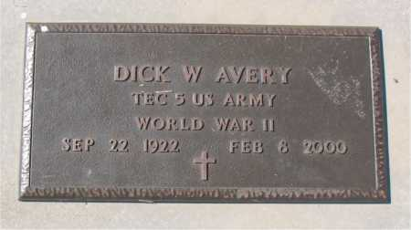 AVERY (VETERAN WWII), DICK W - Carroll County, Arkansas | DICK W AVERY (VETERAN WWII) - Arkansas Gravestone Photos