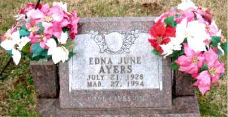 AYERS, EDNA JUNE - Carroll County, Arkansas | EDNA JUNE AYERS - Arkansas Gravestone Photos
