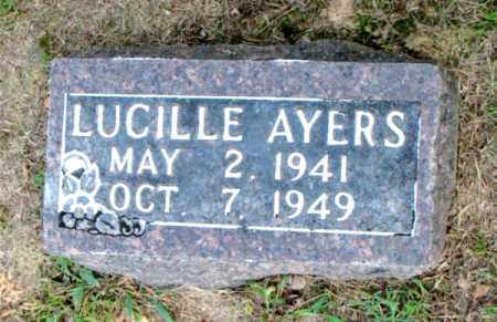 AYERS, LUCILLE - Carroll County, Arkansas | LUCILLE AYERS - Arkansas Gravestone Photos
