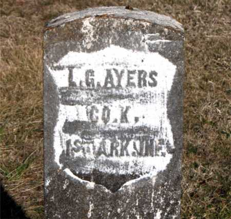 AYERS (VETERAN UNION), LEROY GREEN - Carroll County, Arkansas | LEROY GREEN AYERS (VETERAN UNION) - Arkansas Gravestone Photos
