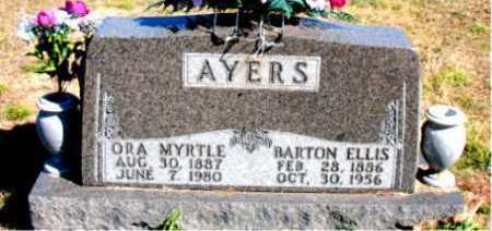 AYERS, ORA MYRTLE - Carroll County, Arkansas | ORA MYRTLE AYERS - Arkansas Gravestone Photos
