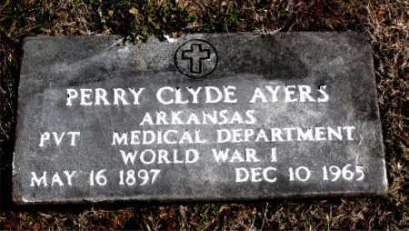 AYERS (VETERAN WWI), PERRY CLYDE - Carroll County, Arkansas | PERRY CLYDE AYERS (VETERAN WWI) - Arkansas Gravestone Photos